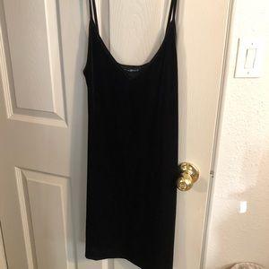 Brandy Melville Velvet Black Dress
